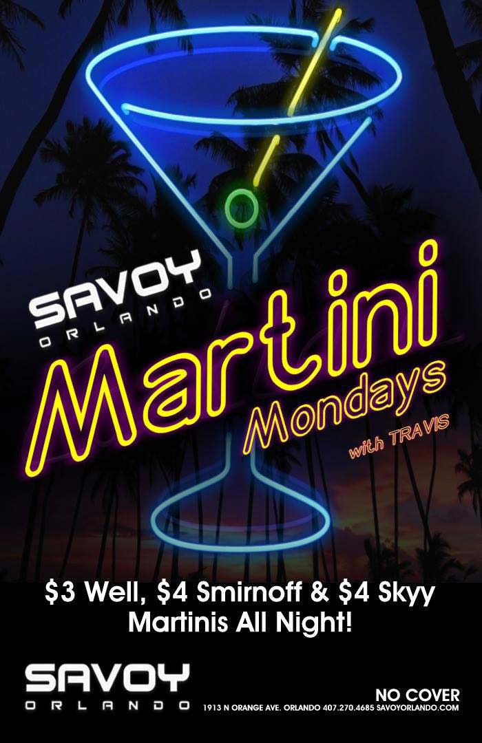 Martini Mondays at Savoy Orlando Gay Bar