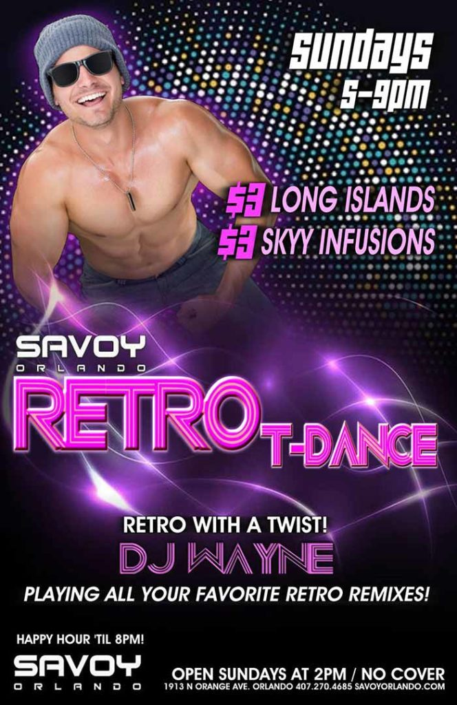 Sundays at Savoy Orlando Retro Dance