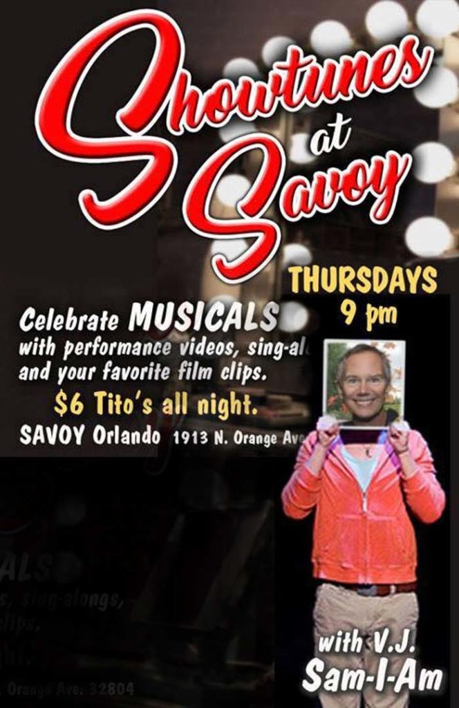 Showtunes at Savoy Orlando Every Thursday