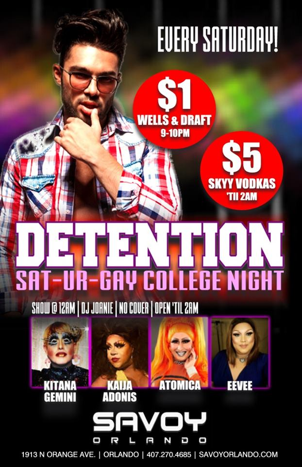 College Nights Savoy Orlando $1 Drinks