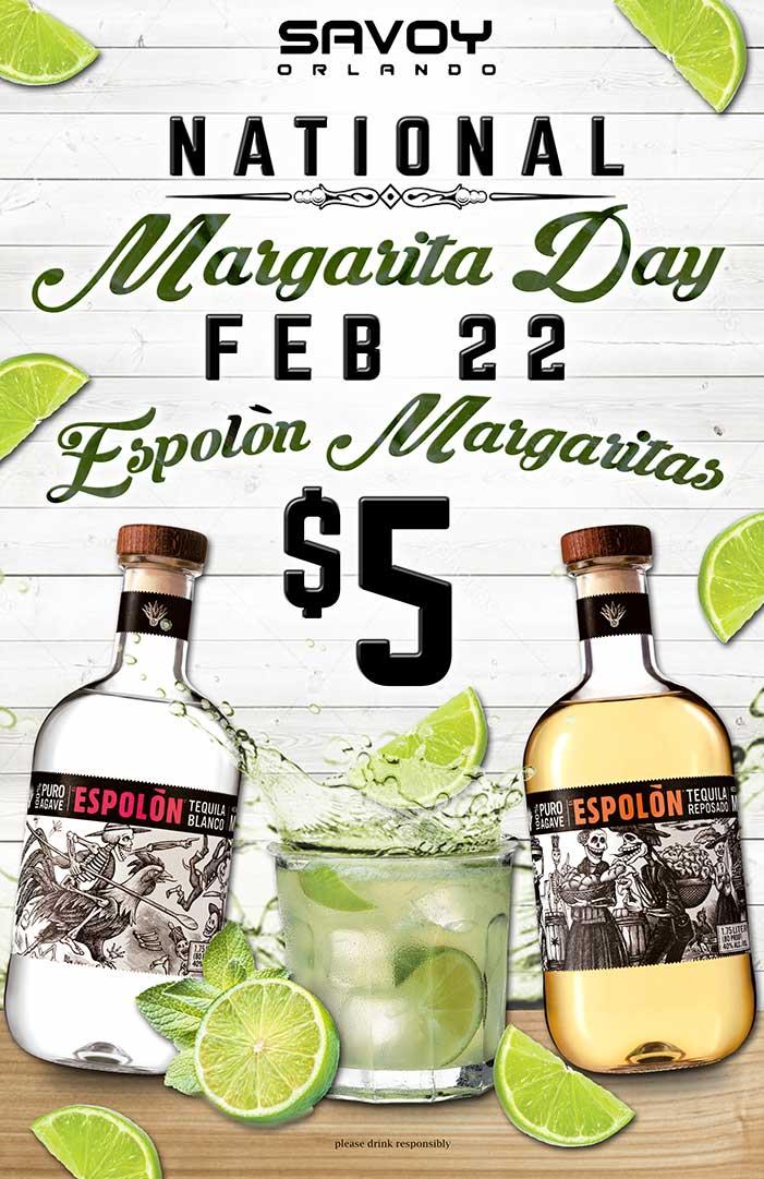 National Margarita Day at Savoy Orlando