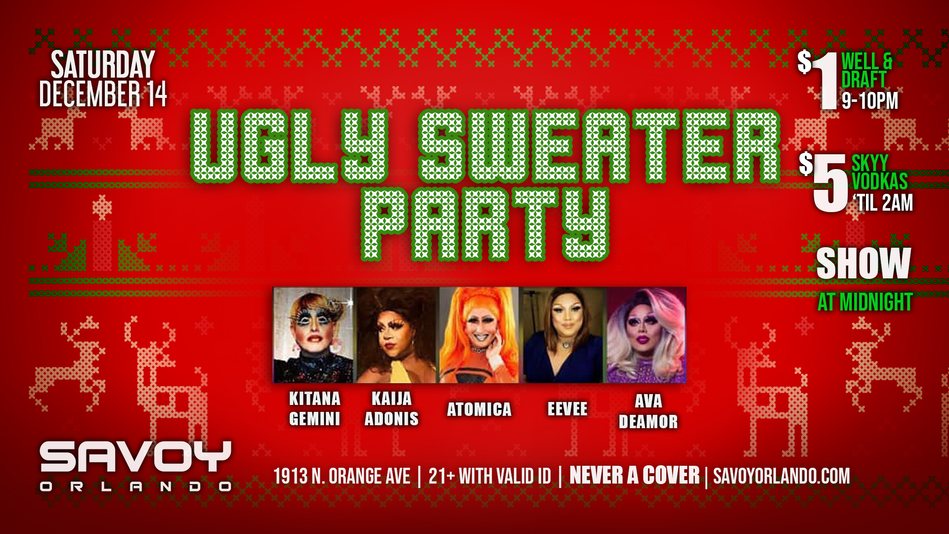 Ugly Sweater Party Savoy Orlando