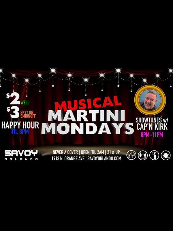 Musical Martini Mondays at Savoy Orlando
