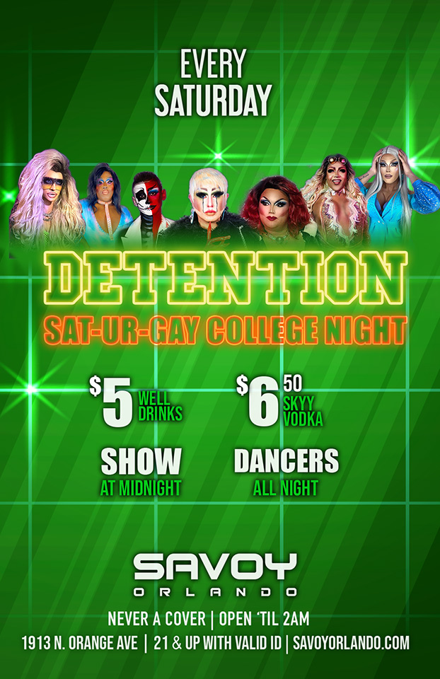 College Night Saturday at Savoy Orlando Gay Bar